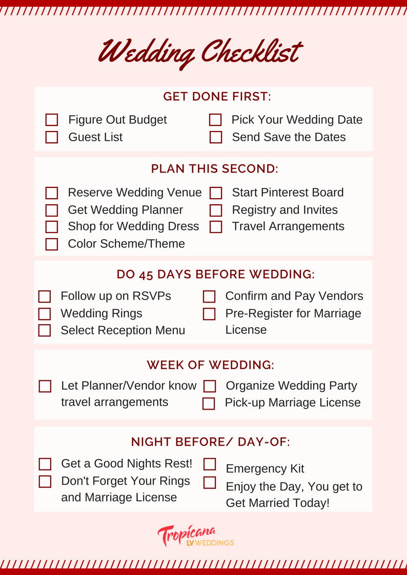 wedding planning checklist for a stress free day tropicana lv weddings
